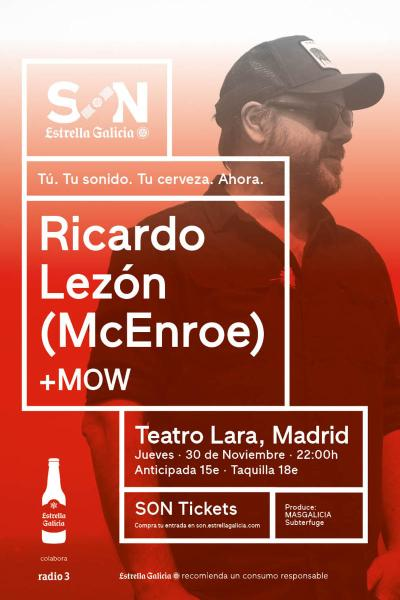 Ricardo Lezón (McEnroe) en Madrid | SON Estrella Galicia