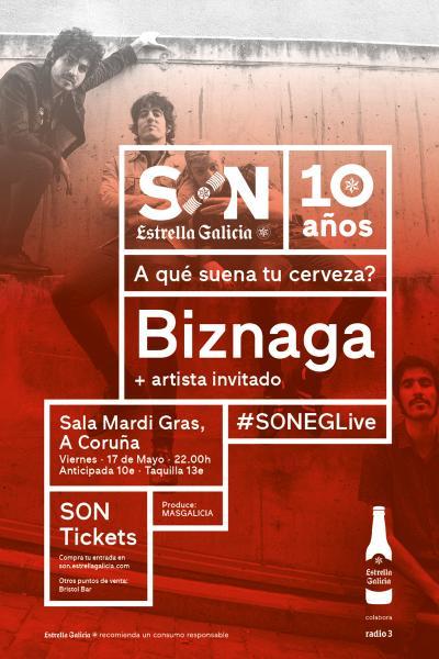 Biznaga + Artista Invitado en Coruña | SON Estrella Galicia