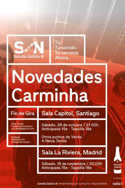 Novedades Carminha en Santiago | SON Estrella Galicia