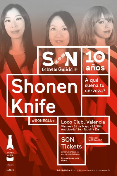 Shonen Knife en Valencia | SON Estrella Galicia