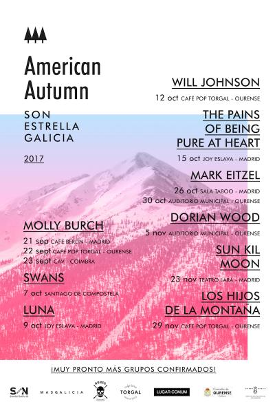 American Autumn presenta a The Pains Of Being Pure At Heart en Madrid