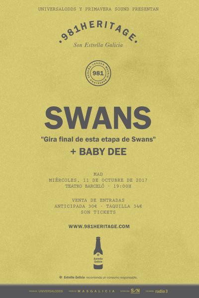 Swans + Baby Dee en Madrid | 981Heritage