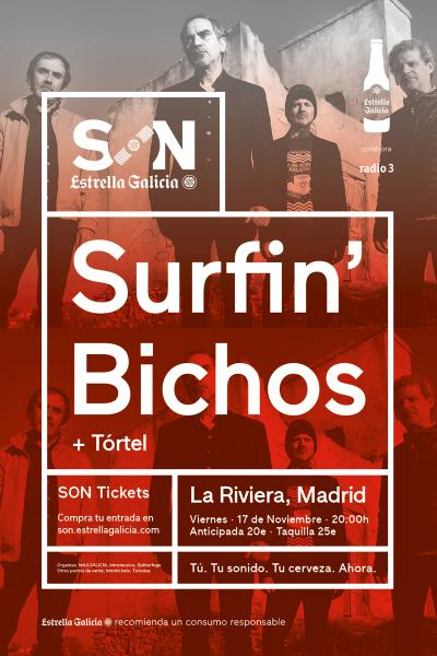 Surfin' Bichos + Tórtel en Madrid   SON Estrella Galicia
