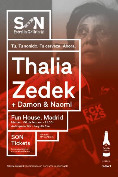 Thalia Zedek + Damon & Naomi en Madrid   SON Estrella Galicia