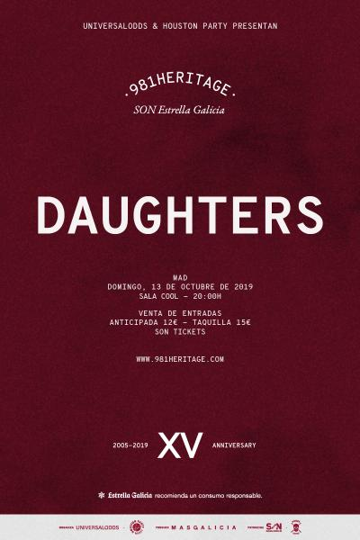 Daughters + Jeromes Dream en Madrid | 981heritage
