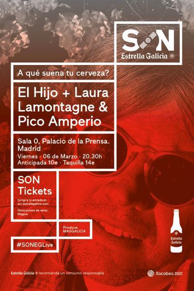 El Hijo + Laura Lamontagne & Pico Amperio en Madrid   SON Estrella Galicia