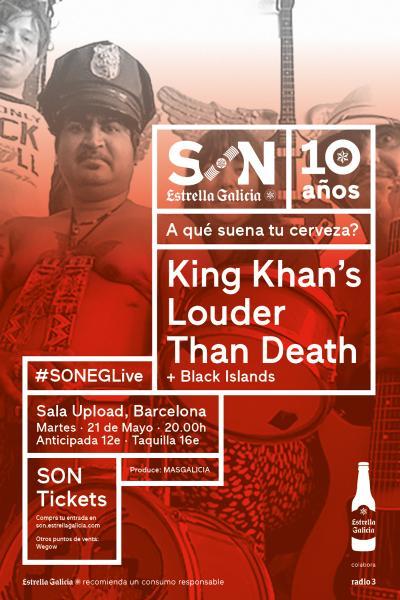 King Khan´s Louder Than Death + Black Islands en Barcelona | SON EG