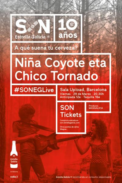 Niña Coyote eta Chico Tornado en Barcelona | SON Estrella Galicia