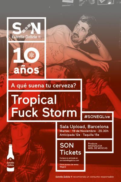 Tropical Fuck Storm + Artista Invitado en Barcelona | SON Estrella Galicia