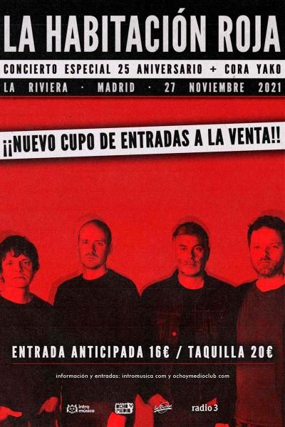La Habitación Roja: concierto especial 25 aniversario (Madrid / La Riviera)