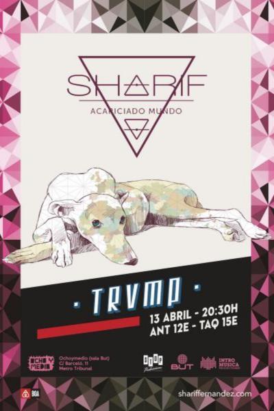 Sharif en el Ciclo TRVMP (Ochoymedio Club) presentando su nuevo disco