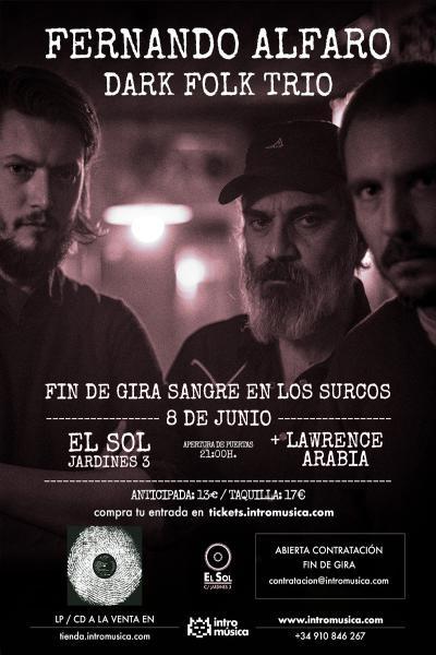 Fernando Alfaro Dark Folk Trio + Lawrence Arabia en Madrid