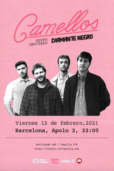 CAMELLOS + Diamante Negro en Barcelona (Sala Apolo 2)