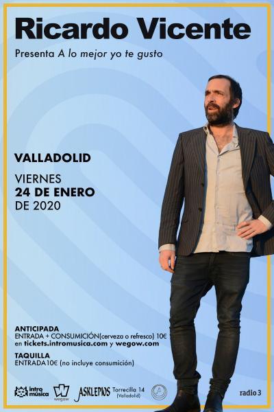 Ricardo Vicente en Valladolid (Sala Asklepios)