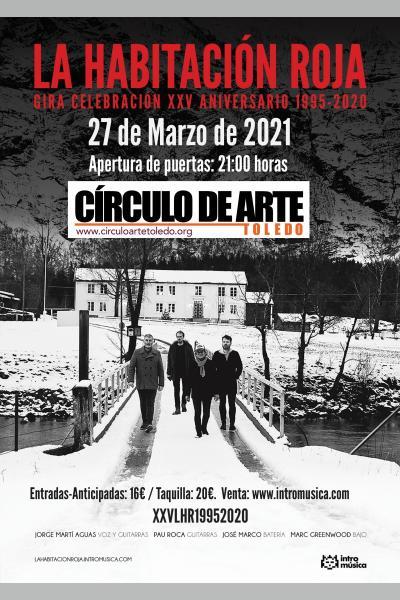 La Habitación Roja: concierto especial 25 aniversario en Toledo