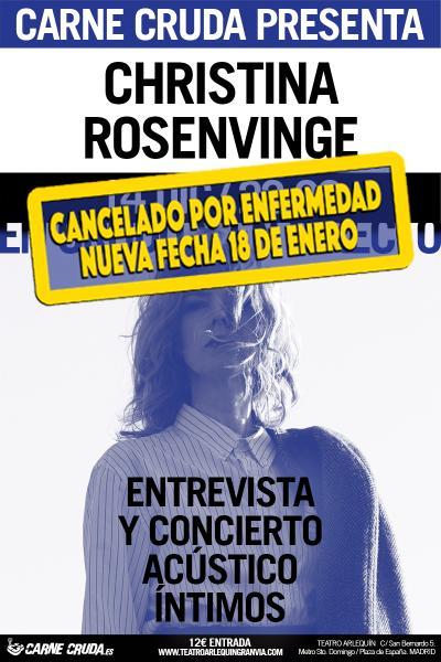 """CARNE CRUDA presenta CRISTINA ROSENVINGE """"EN CRUDO Y EN DIRECTO"""""""