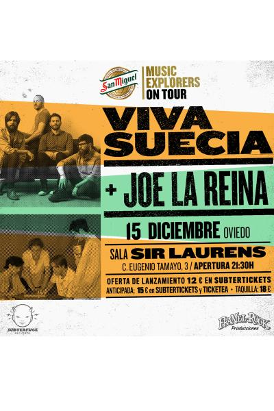 Viva Suecia + Joe La Reina en Oviedo