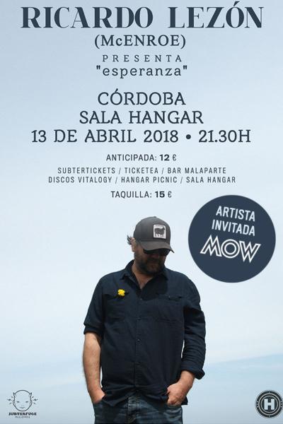 Ricardo Lezón (McEnroe) +MOW en Córdoba