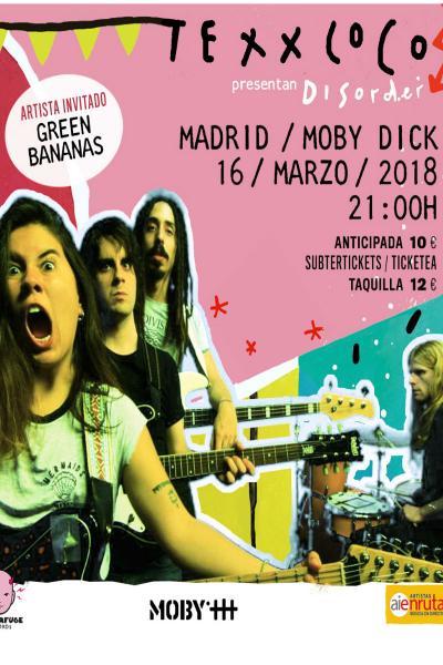 Texxcoco + Green Bananas en Madrid