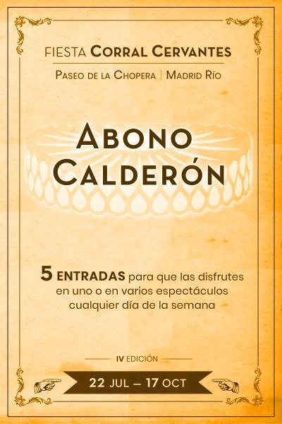 Abono Calderón 5 entradas