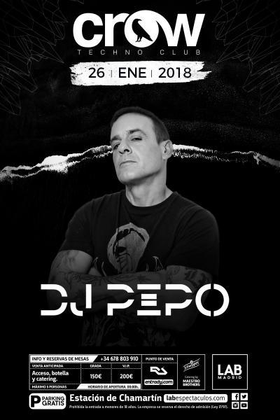 Crow Techno Club presenta DJ PEPO