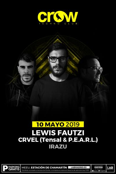 Lewis Fautzi & Crvel en Crow Techno Club