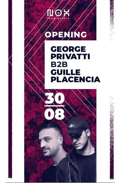 NOX Opening 2019-2020 - George Privatti B2B Guille Placencia